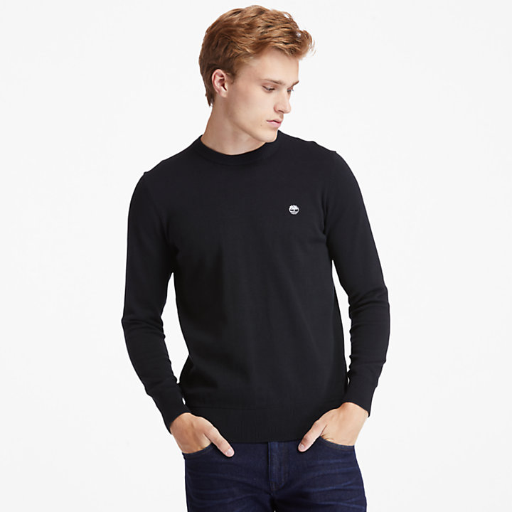 Williams River Organic Cotton Sweater for Men in Black-