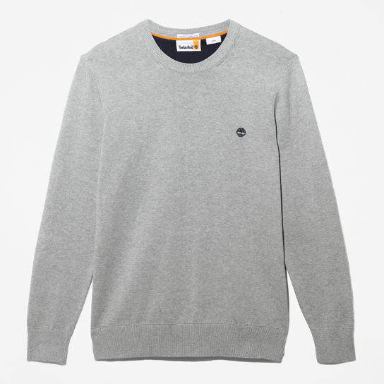 Williams River Organic Cotton Sweater for Men in Grey | Timberland