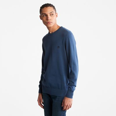 Williams+River+Organic+Cotton+Sweater+for+Men+in+Blue