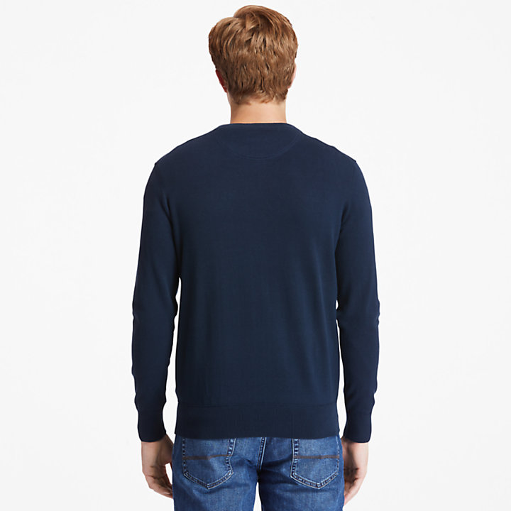 Williams River Organic Cotton Sweater for Men in Navy-