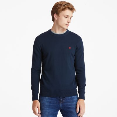 Williams+River+Pullover+aus+Bio-Baumwolle+f%C3%BCr+Herren+in+Navyblau