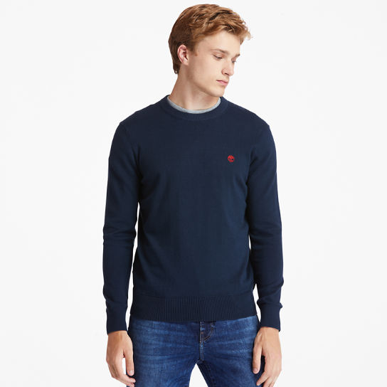 Williams River Organic Cotton Sweater for Men in Navy | Timberland