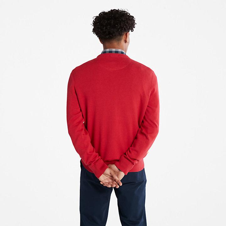 Maglione da Uomo in Cotone Biologico Williams River in rosso-