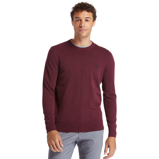 Pull Williams River pour homme en bordeaux | Timberland