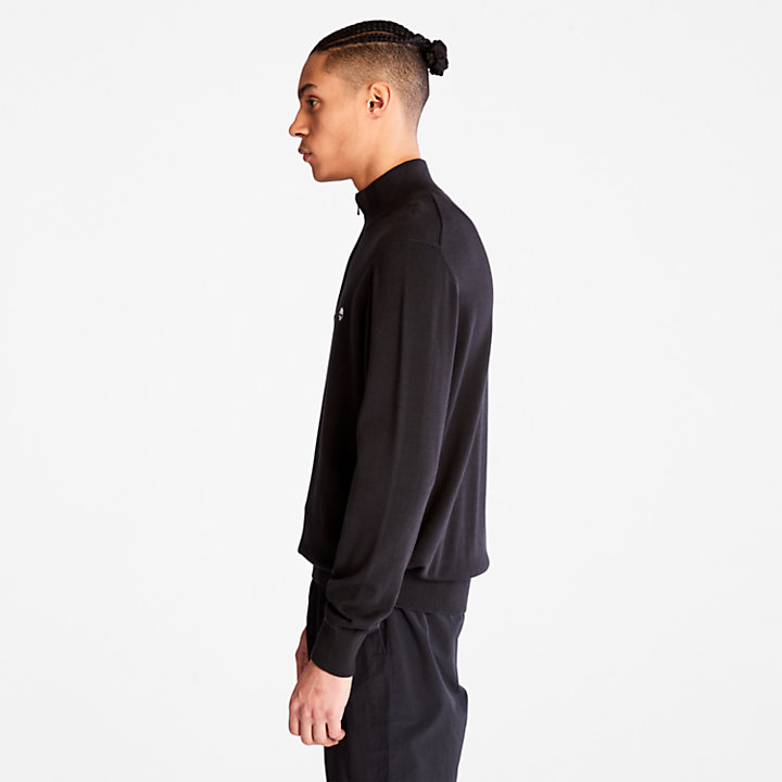 Williams River Zip-neck Sweater for Men in Black-