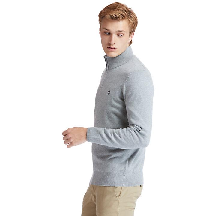 Williams River Zip-neck Sweater for Men in Grey-