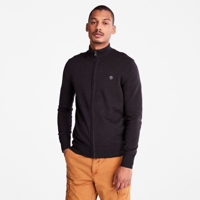 Williams+River+Rei%C3%9Fverschluss-Herrensweater+in+Schwarz