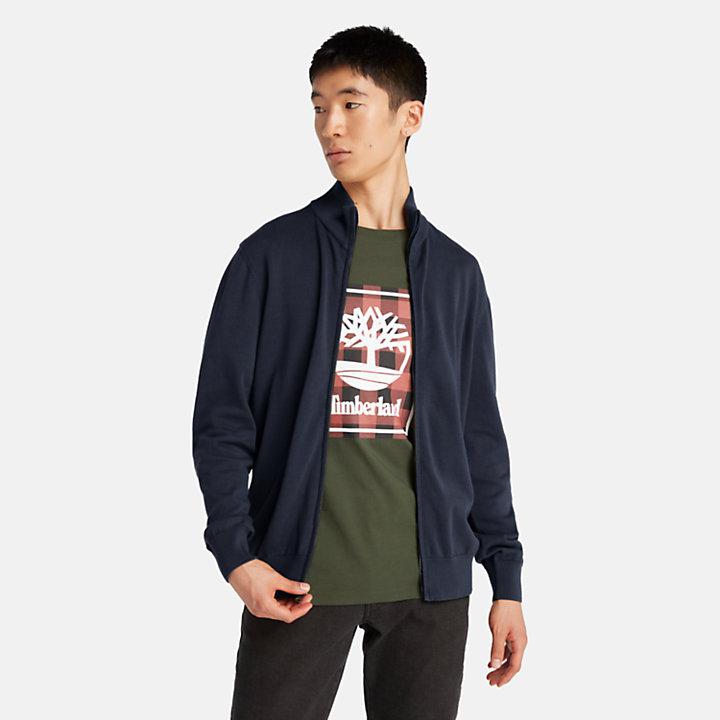 Williams River Full-Zip Sweater for Men in Navy-