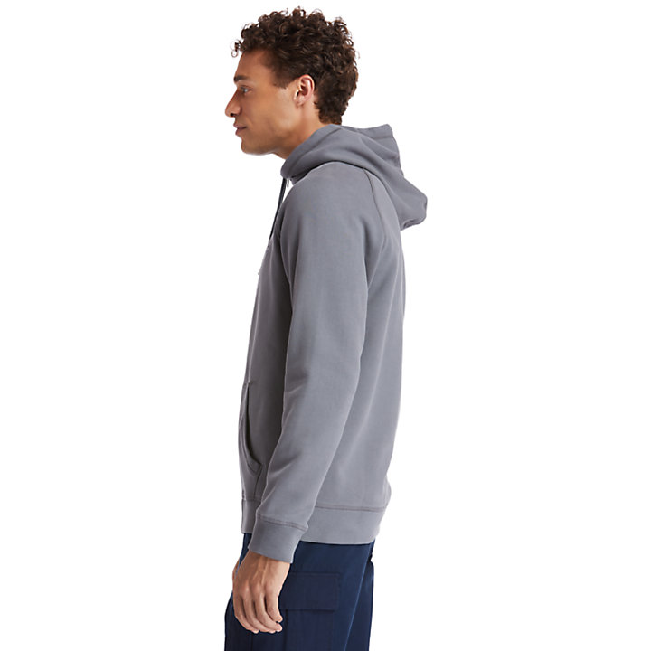 Exeter River Zip Hoodie for Men in Dark Grey-