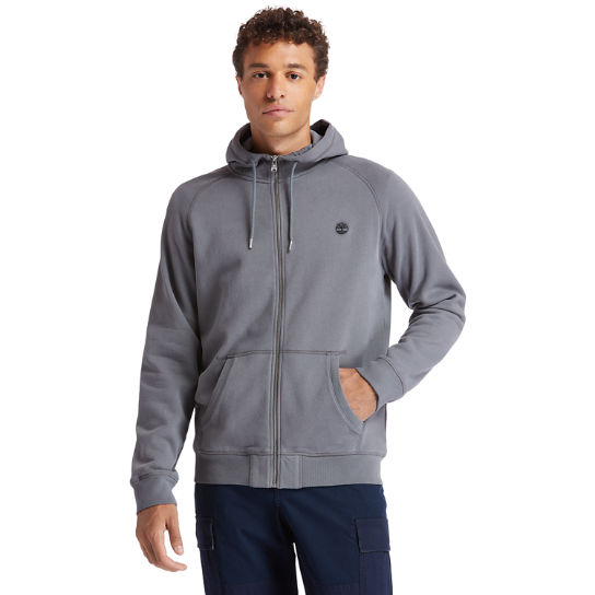 Exeter River Zip Hoodie for Men in Dark Grey | Timberland