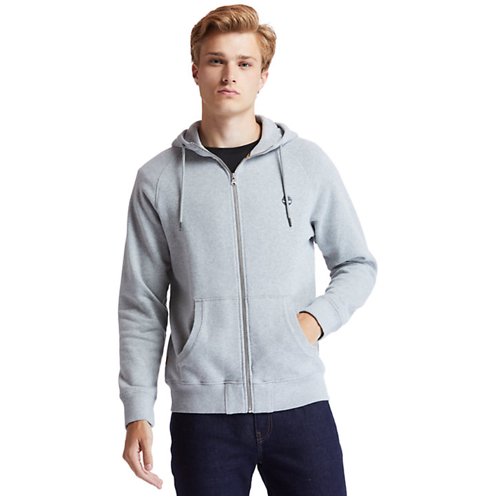 Exeter River Zip Hoodie for Men in Grey-