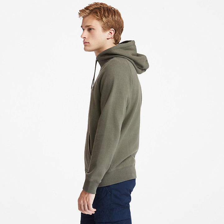 Exeter River Zip Hoodie for Men in Green-
