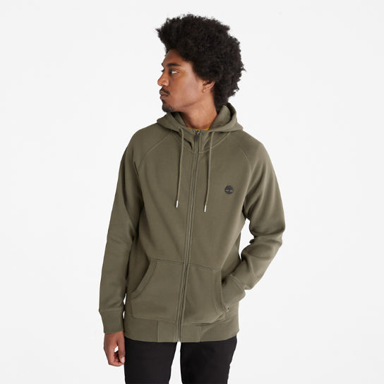 Exeter River Zip Hoodie for Men in Green | Timberland