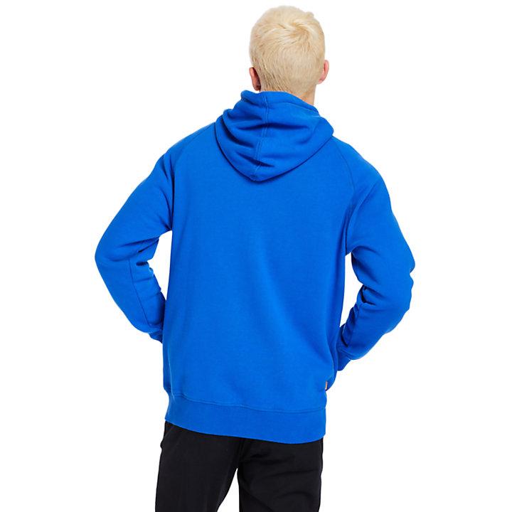 Exeter River hoody met rits voor heren in blauw-