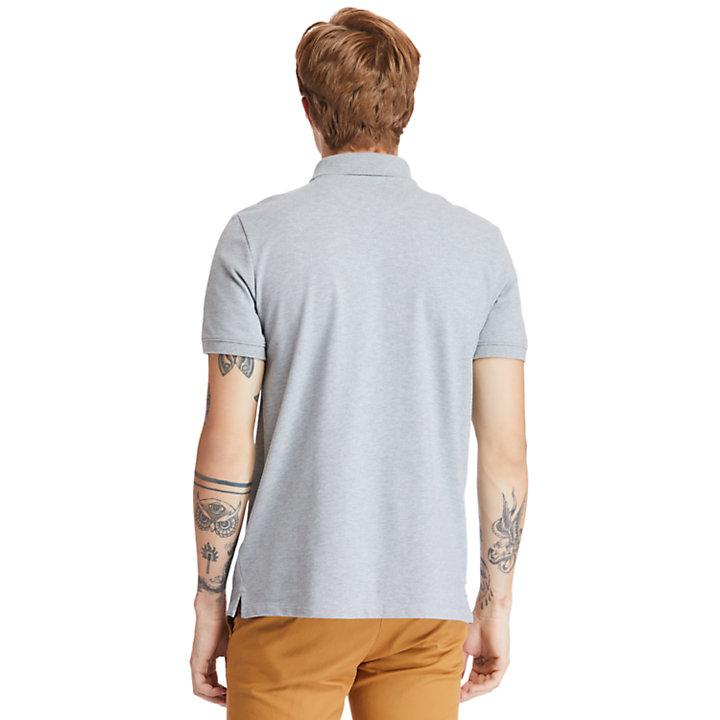 Polo Millers River en coton bio pour homme en gris-