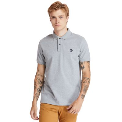 Millers+River+Organic+Cotton+Polo+Shirt+for+Men+in+Grey