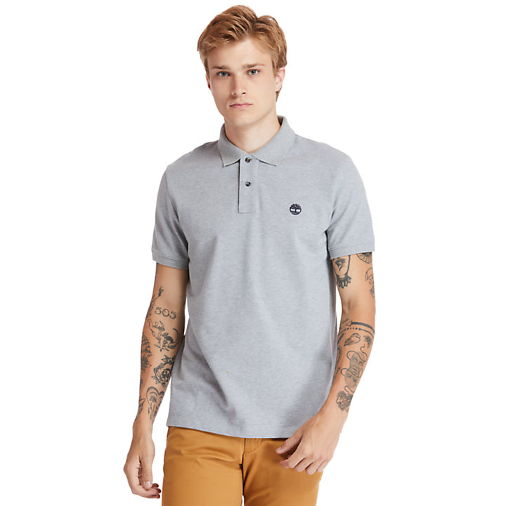 Millers River Organic Cotton Polo Shirt for Men in Grey-