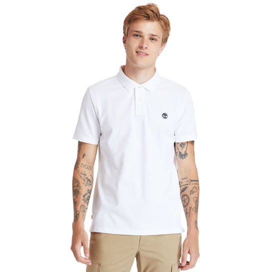 Millers River Organic Cotton Polo Shirt for Men in White | Timberland