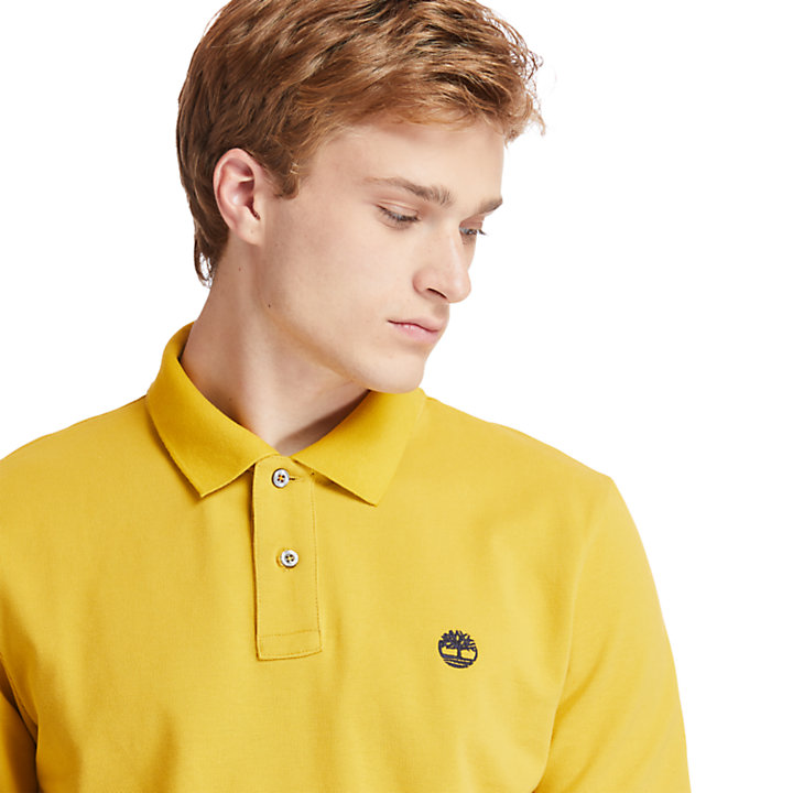 Millers River Organic Cotton Polo Shirt for Men in Yellow-