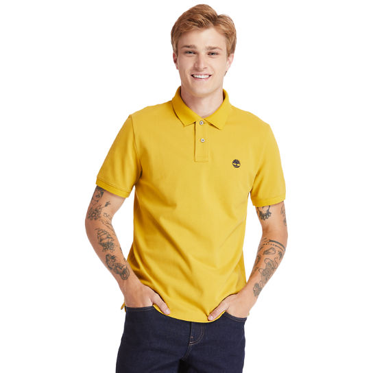 Millers River Organic Cotton Polo Shirt for Men in Yellow | Timberland