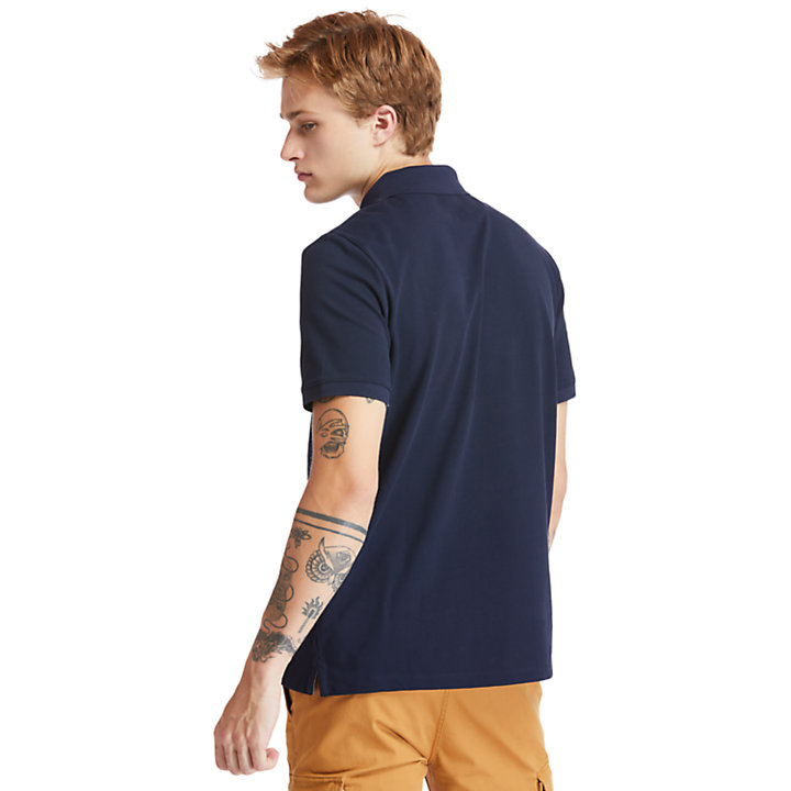 Millers River Organic Cotton Polo Shirt for Men in Navy-