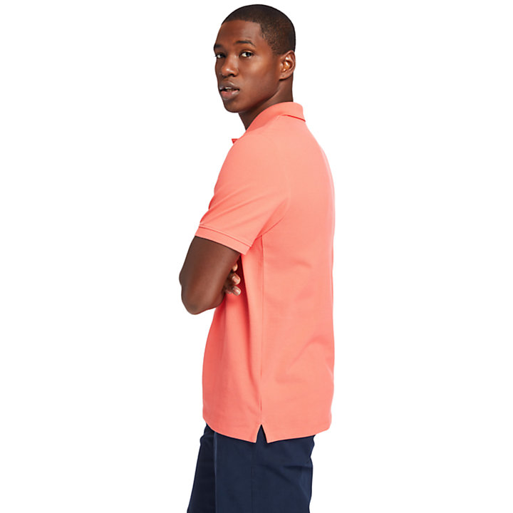 Millers River Organic Cotton Polo Shirt for Men in Pink-