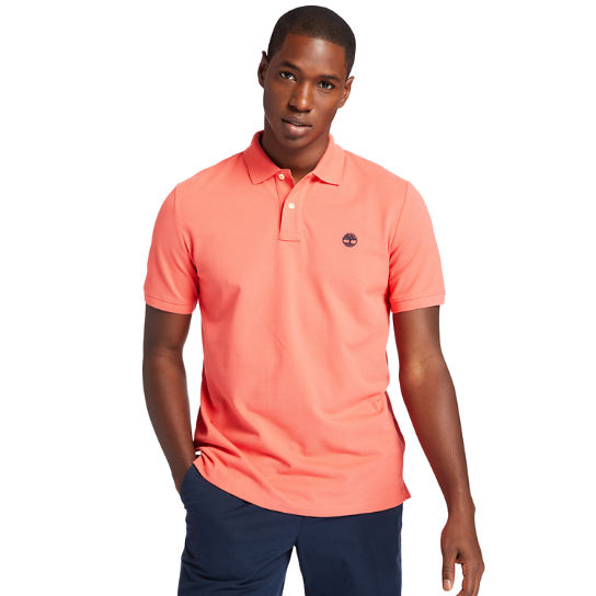 Millers River Organic Cotton Polo Shirt for Men in Pink | Timberland