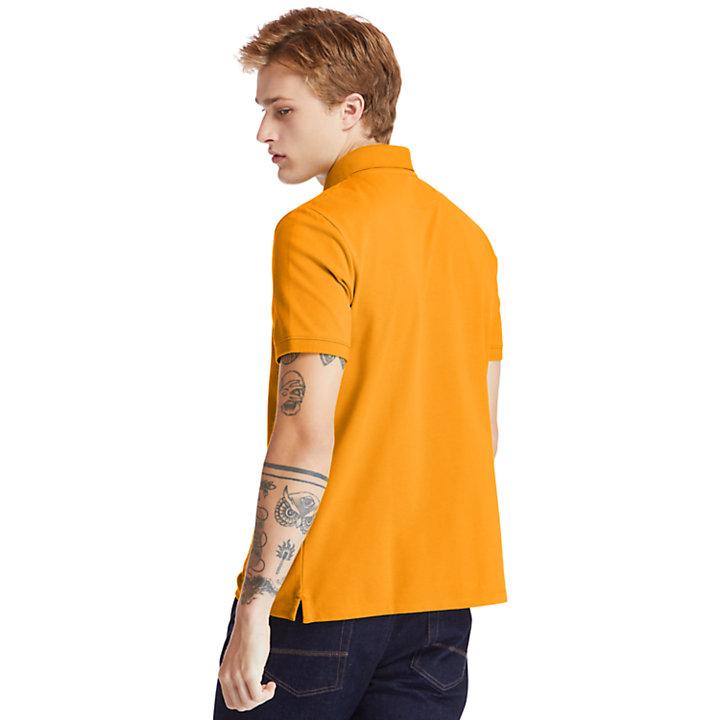 Polo da Uomo in Cotone Biologico Millers River in arancione-