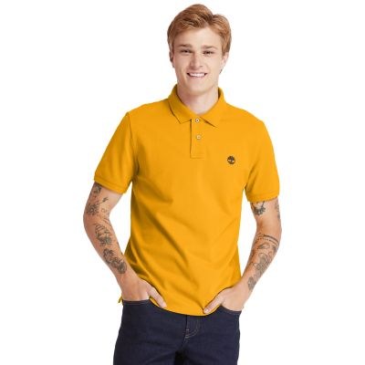 Millers+River+Organic+Cotton+Polo+Shirt+for+Men+in+Orange