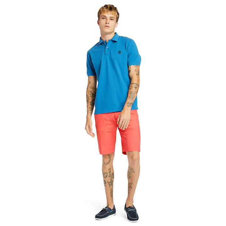 Millers River Organic Cotton Polo Shirt for Men in Teal-