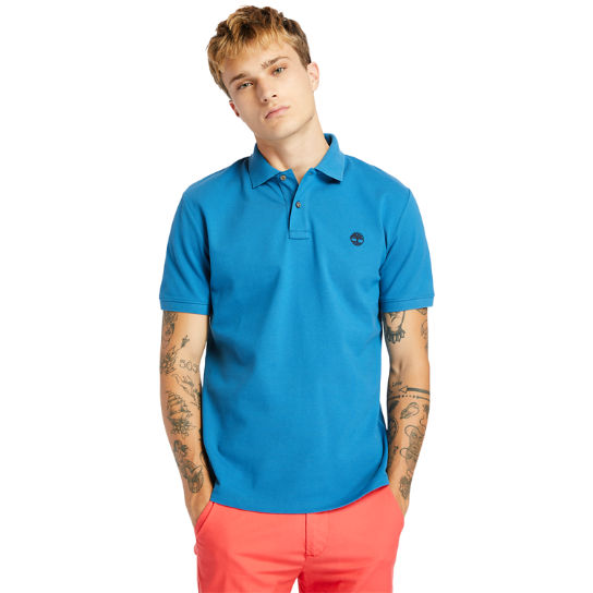 Millers River Organic Cotton Polo Shirt for Men in Teal | Timberland