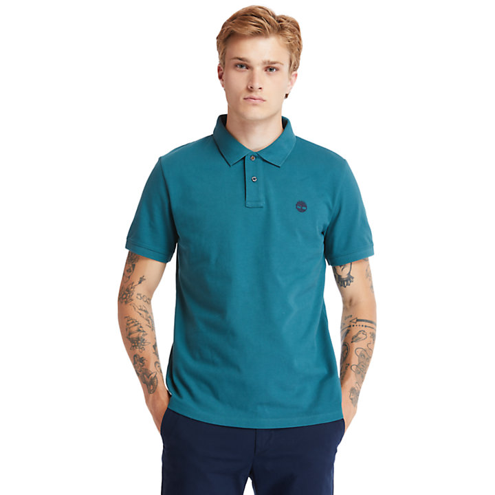 Millers River Organic Cotton Polo Shirt for Men in Green-