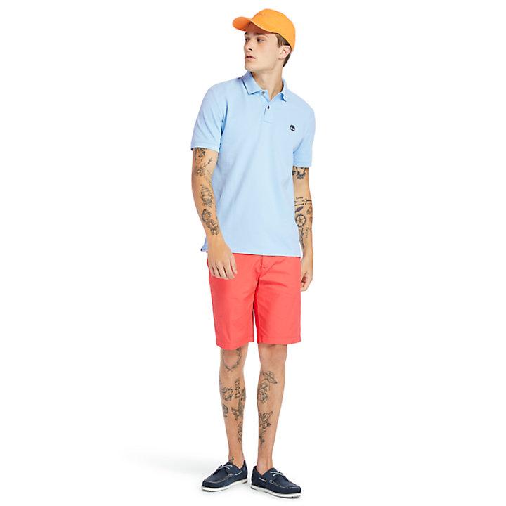 Polo Millers River en coton bio pour homme en bleu clair-
