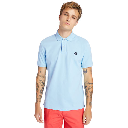 Millers River Organic Cotton Polo Shirt for Men in Light Blue | Timberland