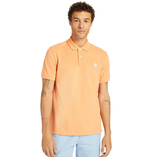 Millers River Organic Cotton Polo Shirt for Men in Peach | Timberland