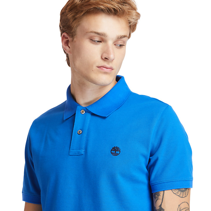Millers River Organic Cotton Polo Shirt for Men in Blue-