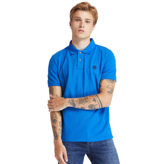 Millers River Organic Cotton Polo Shirt for Men in Blue | Timberland