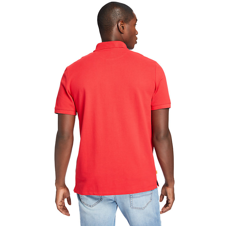 Millers River Organic Cotton Polo Shirt for Men in Red-