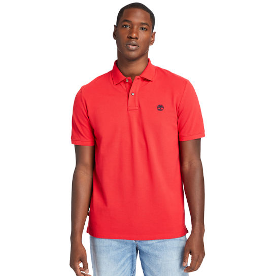 Millers River Organic Cotton Polo Shirt for Men in Red | Timberland