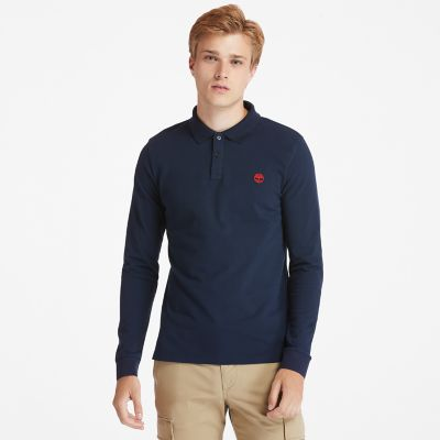 Millers+River+LS+Polo+Shirt+for+Men+in+Navy
