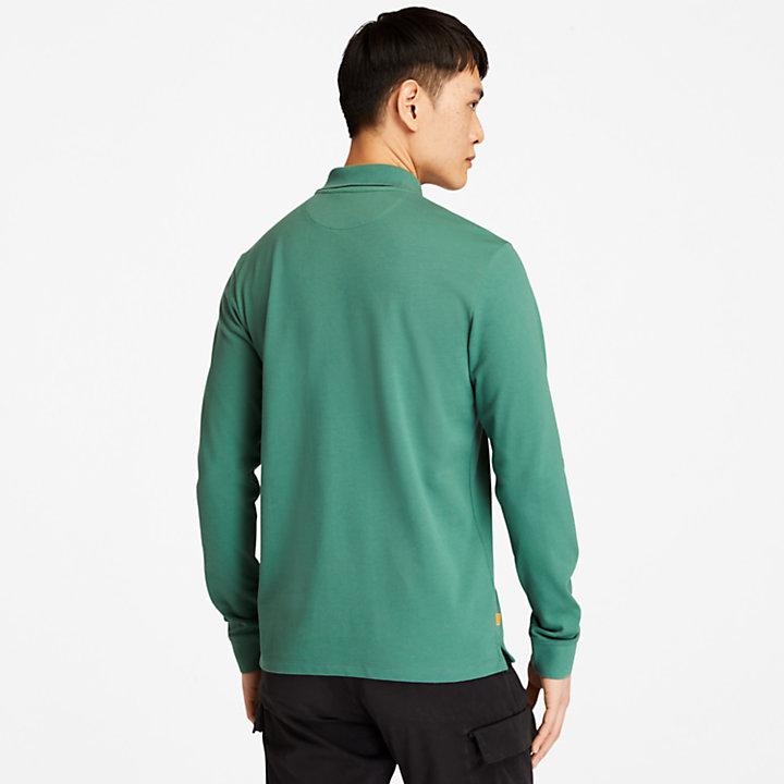 Polo de Manga Larga Millers River para Hombre en verde-