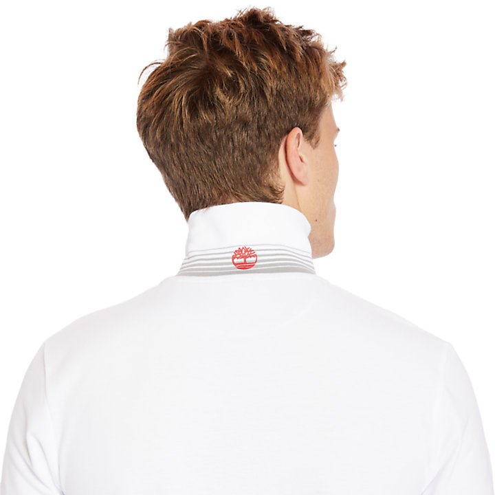 Millers River Polo Shirt for Men in White-