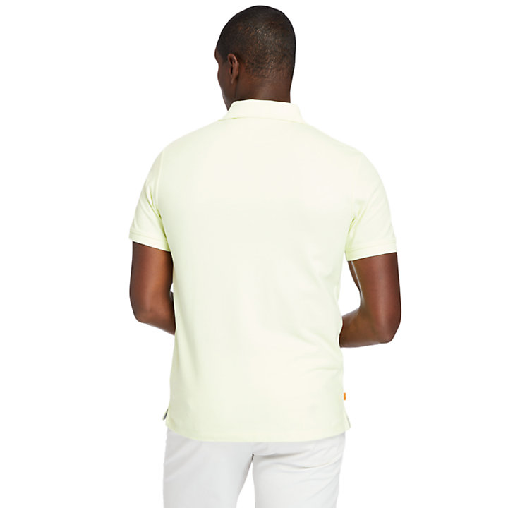 Millers River Polo Shirt for Men in Light Yellow-