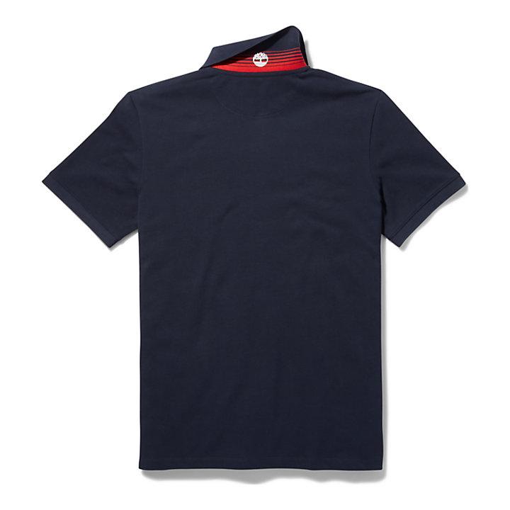Millers River Poloshirt voor heren in marineblauw-
