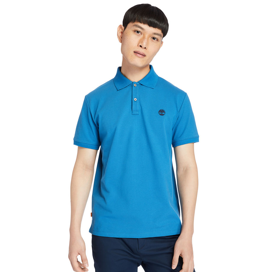 Timberland Millers River Polo Shirt For Men In Teal Teal, Size XL