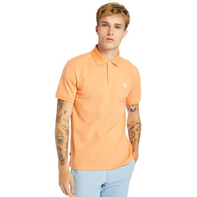 Millers+River+Polo+Shirt+for+Men+in+Peach