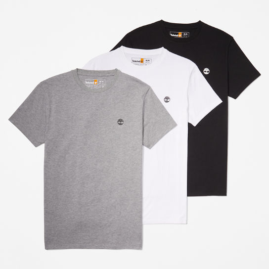 Three Pack Organic Cotton T-Shirts for Men in Multicoloured | Timberland