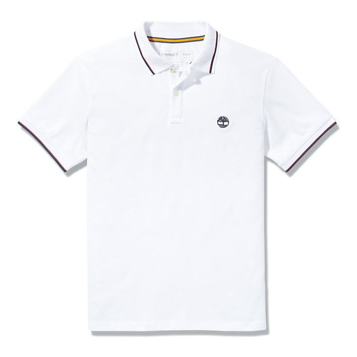 Millers River Tipped-collar Poloshirt voor heren in wit-