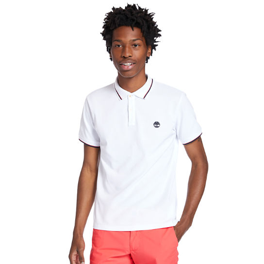 Millers River Tipped-collar Poloshirt voor heren in wit | Timberland