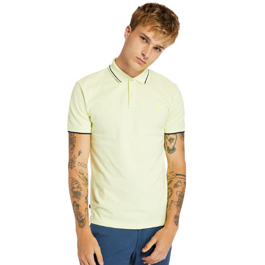 Millers River Tipped-collar Polo Shirt for Men in Light Green | Timberland